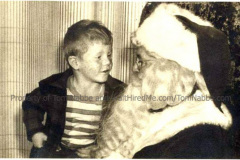 Young Tom with Santa